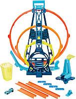 Трек Хот Вилс Тройная петля Hot Wheels Track Builder Unlimited Triple Loop Kit GLC96