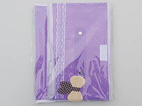 Коробка-органайзер   Ш 25*Д 19,5*В 15,5 см. Цвет фиолетовый для хранения одежды, обуви или небольших предметов, фото 3