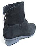 Ботинки замшевые женские на байке большого размера от производителя модель БР47Р, фото 4