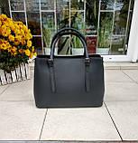 Большая женская сумка Италия натуральная кожа, фото 7