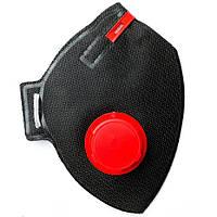 Респиратор-маска с клапаном RUTA 3К FFP3 (BLACK EDITION) - противовирусный