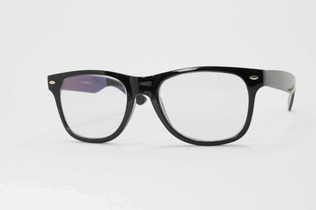 Имиджевые очки в стиле Ray Ban. Стеклянная линза с антибликом и тонировкой 10%