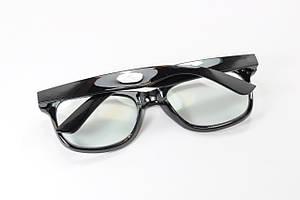 Имиджевые очки в стиле Ray Ban. Стеклянная линза с антибликом и тонировкой 10%, фото 2