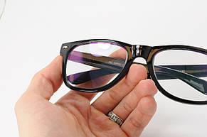 Имиджевые очки в стиле Ray Ban. Стеклянная линза с антибликом и тонировкой 10%, фото 3