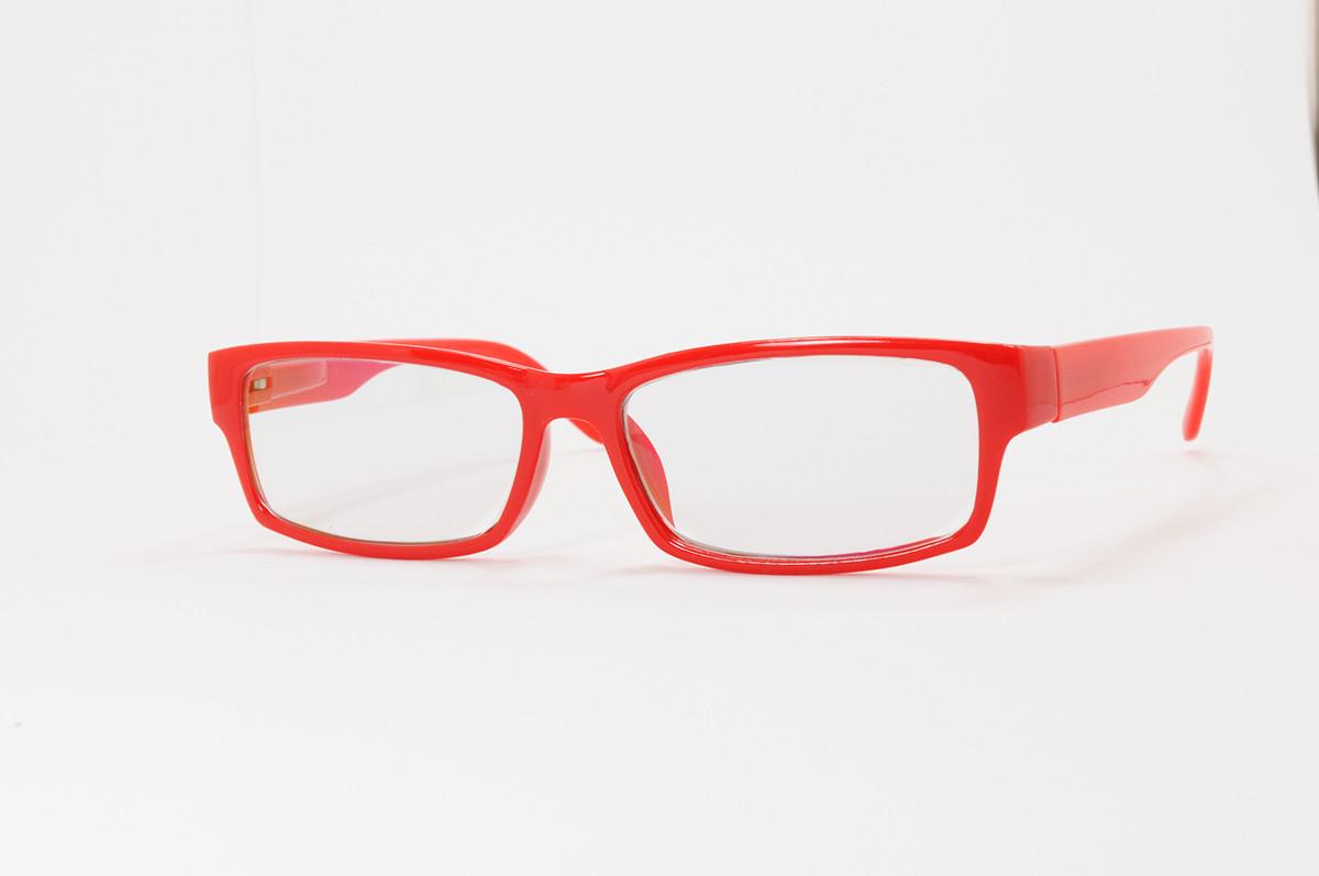 Имиджевые узкие красные очки