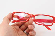 Имиджевые узкие красные очки, фото 2