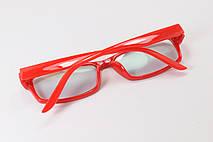 Имиджевые узкие красные очки, фото 3