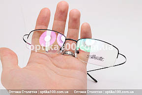 Металлическая черная оправа для очков Silhouette. Полуободковая с титановыми гибкими дужками. Лёгкая!, фото 2