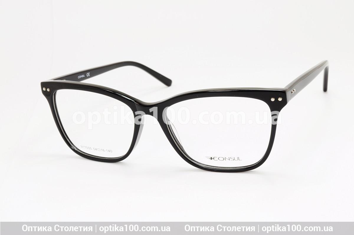 Женская БОЛЬШАЯ черная оправа для очков. На среднее лицо или лицо больше среднего