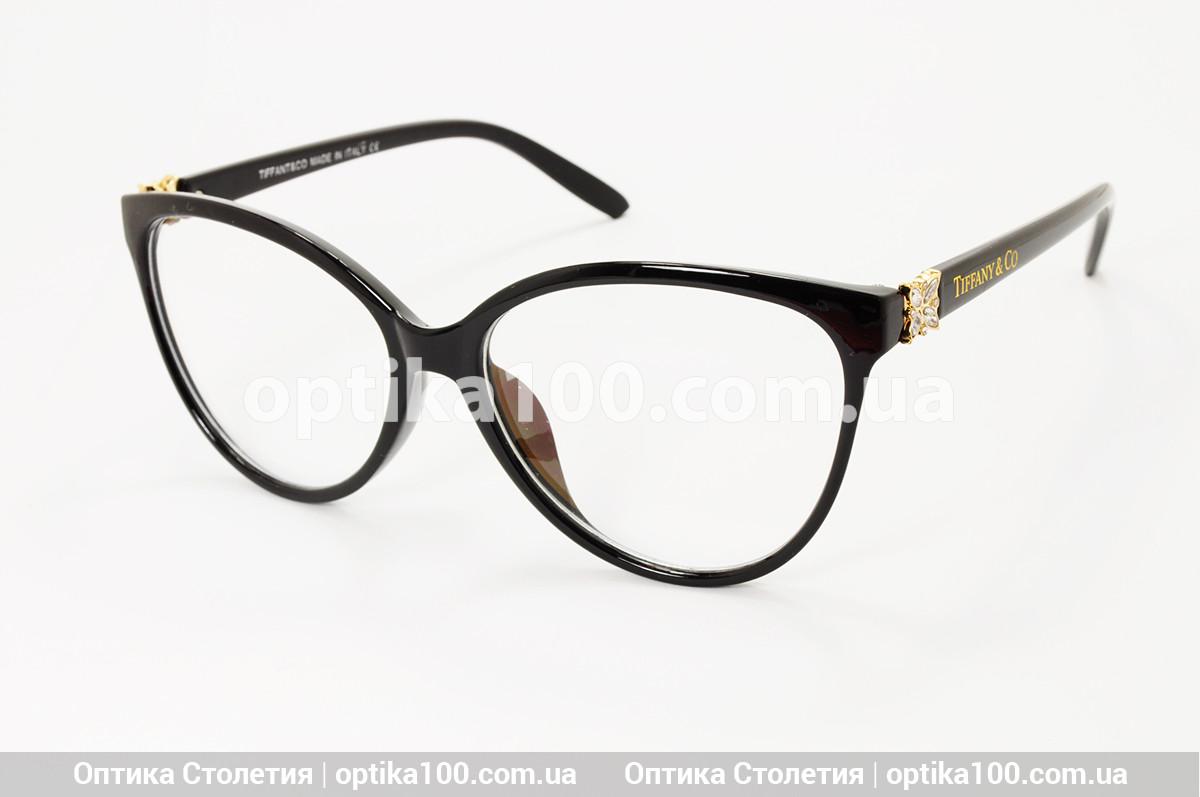 Большая женская черная оправа для очков в стиле Tiffany & Co. Имиджевые очки