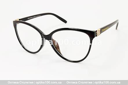 Большая женская черная оправа для очков в стиле Tiffany & Co. Имиджевые очки, фото 2