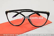 Большая женская черная оправа для очков в стиле Tiffany & Co. Имиджевые очки, фото 3