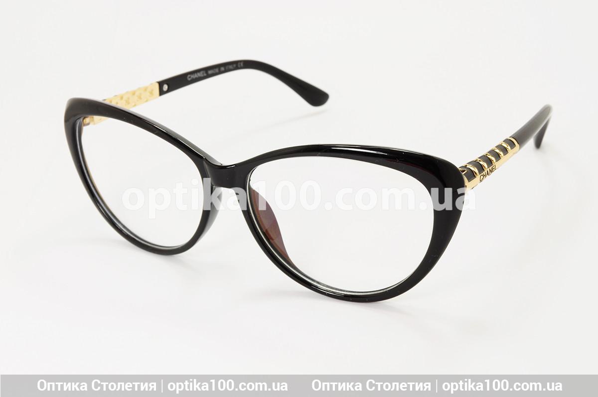 Большая женская черная оправа для очков в стиле Chanel. Имиджевые очки