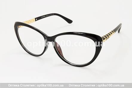 Большая женская черная оправа для очков в стиле Chanel. Имиджевые очки, фото 2