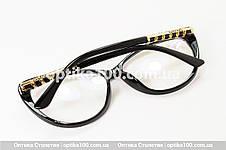 Большая женская черная оправа для очков в стиле Chanel. Имиджевые очки, фото 3