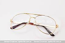 Большие очки для зрения АВИАТОР. Линза с антибликом. +2,0 РМЦ 68 мм, фото 3