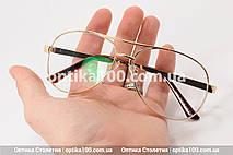 Большие очки для зрения АВИАТОР. Линза с антибликом. Для РМЦ от 66 до 74 мм., фото 2