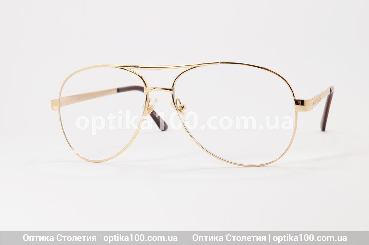 Великі окуляри для зору АВІАТОР. Лінза з антибликом. +2,0 РМЦ 68 мм