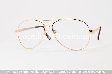 Великі окуляри для зору АВІАТОР. Лінза з антибликом. +2,0 РМЦ 68 мм, фото 2