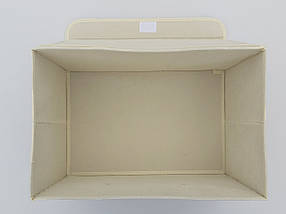 Коробка-органайзер Зигзаг Ш 38*Д 25*24,5 див. Для зберігання одягу, взуття чи невеликих предметів, фото 3