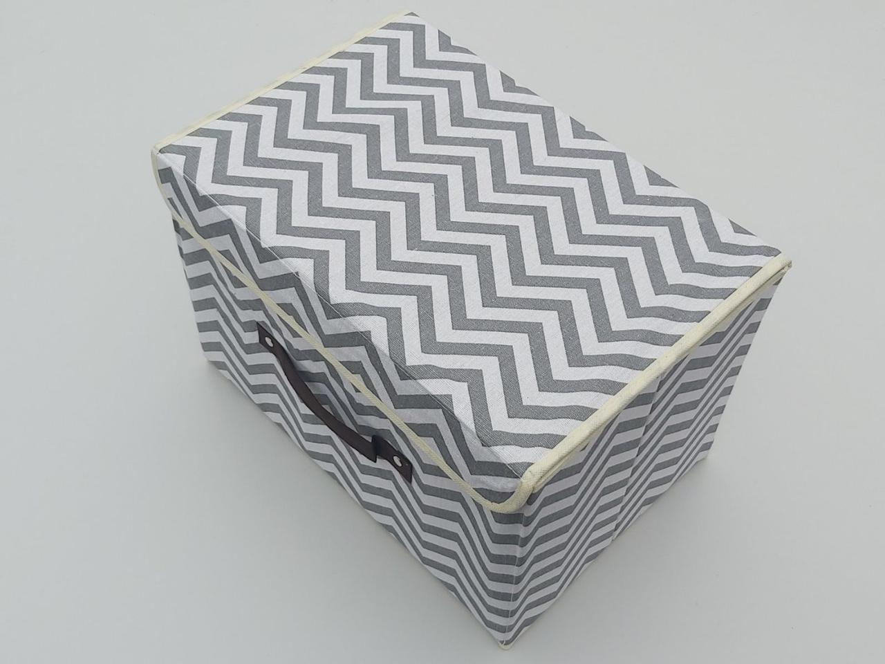Коробка-органайзер Зигзаг Ш 38*Д 25*24,5 див. Для зберігання одягу, взуття чи невеликих предметів