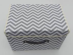 Коробка-органайзер Зигзаг Ш 38*Д 25*24,5 див. Для зберігання одягу, взуття чи невеликих предметів, фото 2