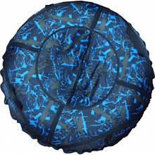 Тюб кольоровий Саламандра, надувні санки, 100 см / Тюбінг Саламандра (надувні санки, ватрушки, тобогани)