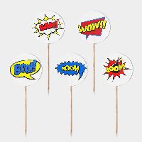 Праздничные топперы Супергерои 5 штук
