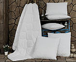 Подушка Бамбуковая Гипоаллергенная Размер 50*70 см Бежевая Белая В Чехле Турция  Elita, фото 7