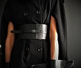 """Женский кожаный пояс-корсет """"Corsetto"""" черный, фото 2"""