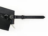 """Женский кожаный пояс-корсет """"Corsetto"""" черный, фото 3"""