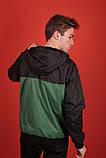 Windrunner Jacket Ветровка черно-зеленая, фото 2