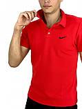 Футболка Polo Nike (Найк) красная, фото 2
