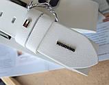 Кожаный мужской ремень Tommy Hilfiger белый, фото 2