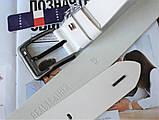 Кожаный мужской ремень Tommy Hilfiger белый, фото 3