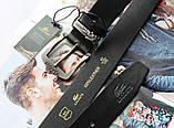 Кожаный ремень Lacoste black, фото 3
