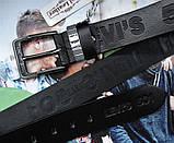 Мужской ремень для джинсов с тиснением Levis черный, фото 3