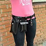 Пояс с навесными карманами черный, фото 3