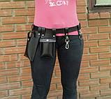 Пояс с навесными карманами черный, фото 7