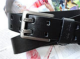 Мужской кожаный ремень Paul Smith black, фото 2