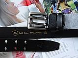 Мужской кожаный ремень Paul Smith black, фото 3