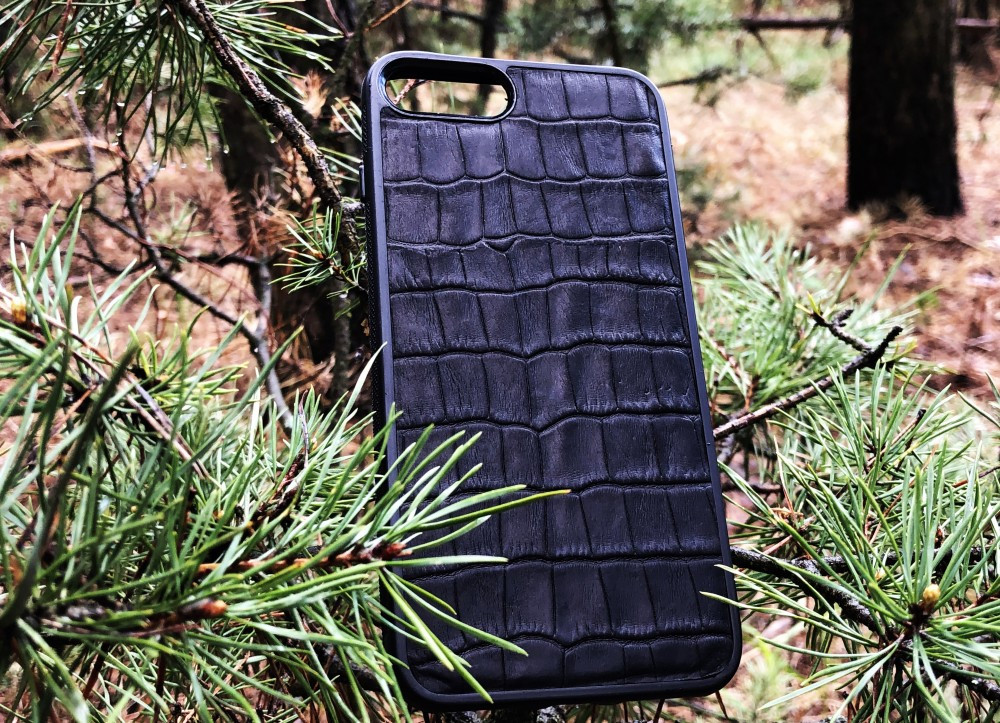 Чехол для (Iphone 8+) alligator black