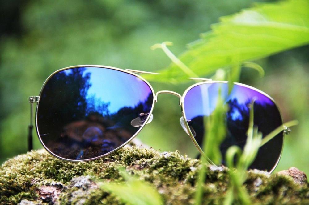 Солнцезащитные очки Aviator cиние