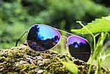 Солнцезащитные очки Aviator cиние, фото 3