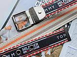 Мужской тканевый ремень Tommy Hilfiger сине-красный, фото 3
