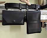 """Женский кожаный ремень с двумя карманами """"Novità"""" черный, фото 5"""