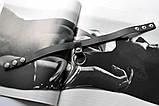 Женский кожаный чокер с кольцом черный, фото 4
