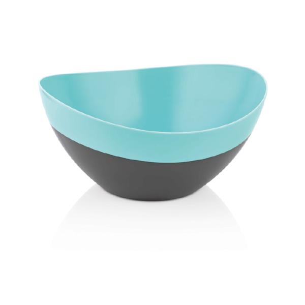 Миска (пластик) Qlux MIX Салатник двойной цвет Мини MIX 27*25*11, пл (L-00490)