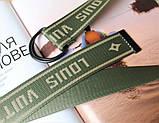 Тренд сезона тканевый ремень Louis Vuitton Хаки, фото 3