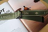 Тренд сезона тканевый ремень Louis Vuitton Хаки, фото 4